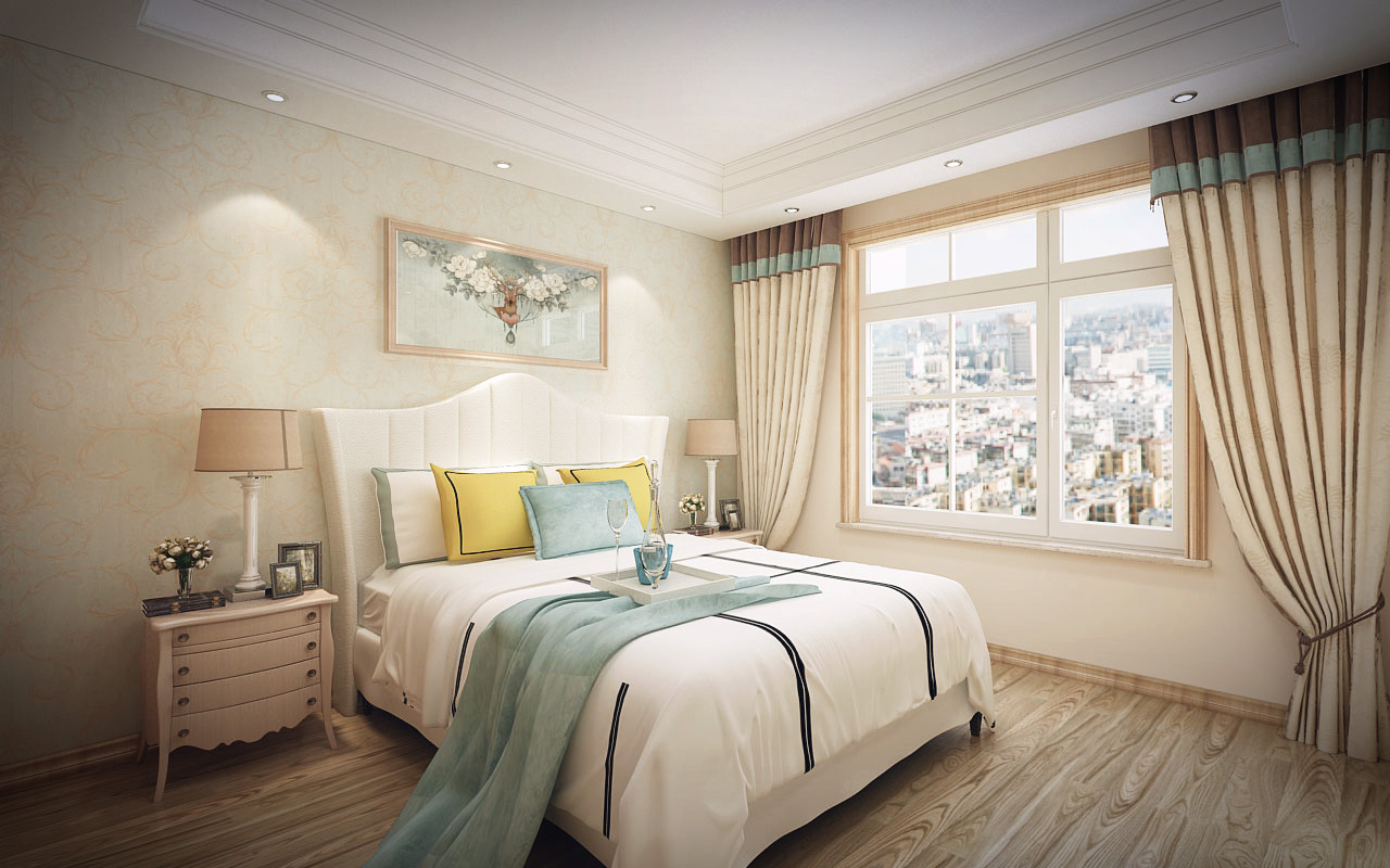 求助100米三居室装修效果图美式风格装修图片
