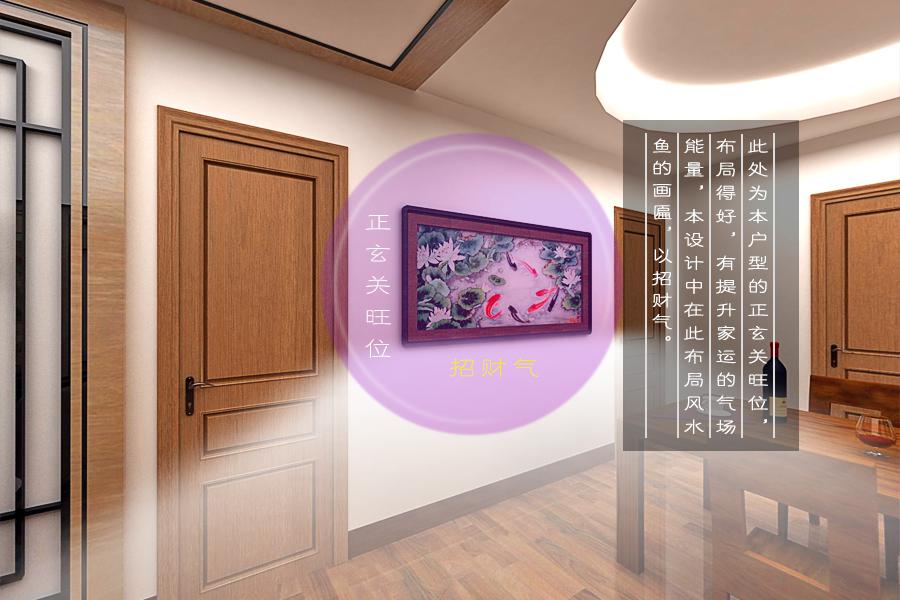 新中式房门效果图