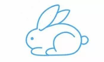 的 小白兔 简笔画,小兔子乖乖