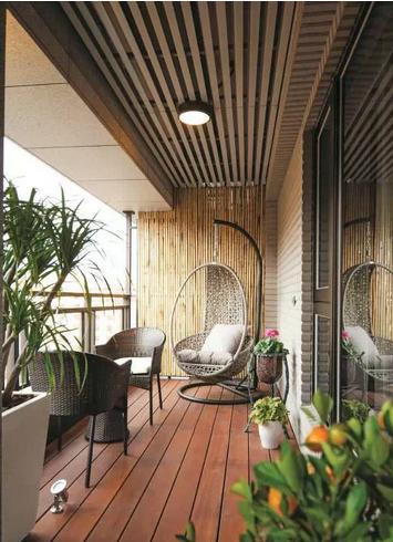 阳台地面装修效果图 家庭阳台装饰效果图 阳台墙砖装修效果图图片