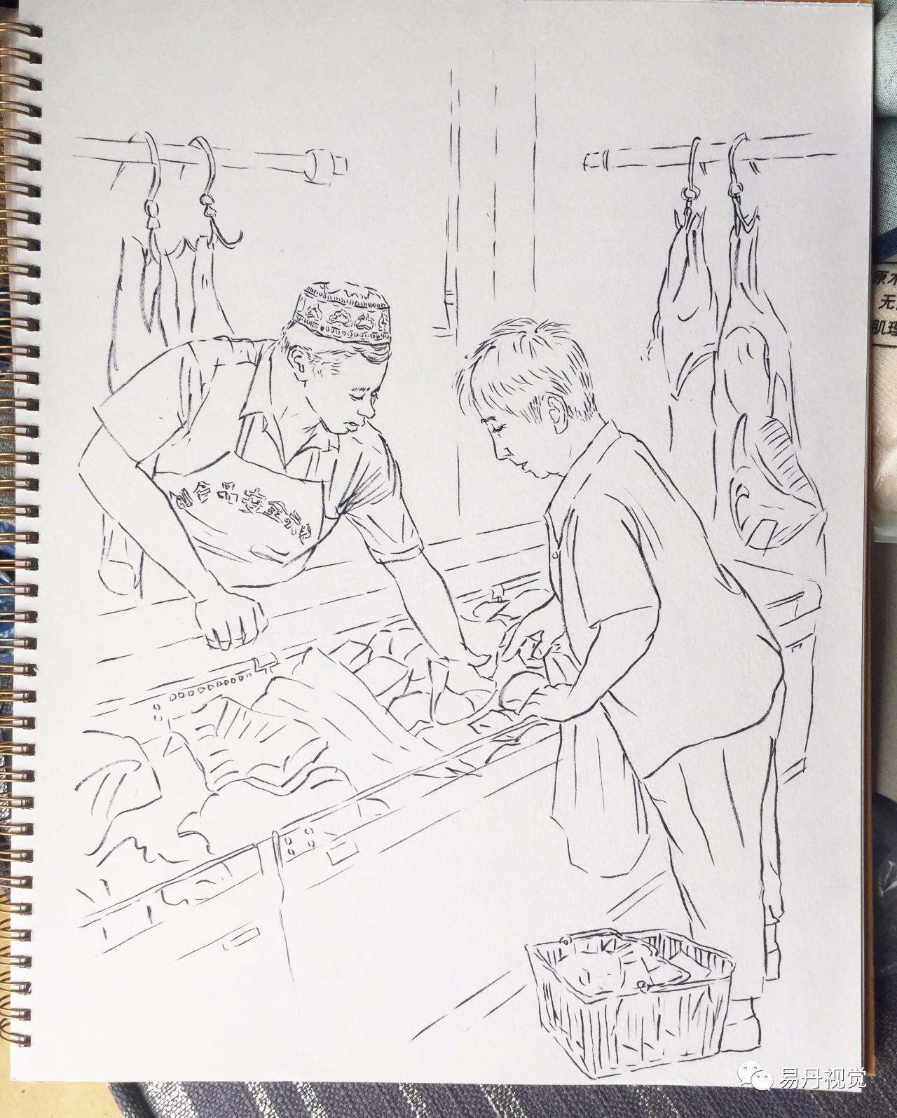 简笔画 手绘 线稿 1280_1595 竖版 竖屏