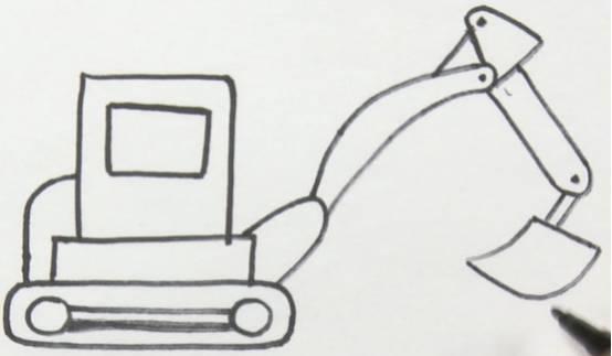 把子 挖掘机 简笔画,就是有这样的操作
