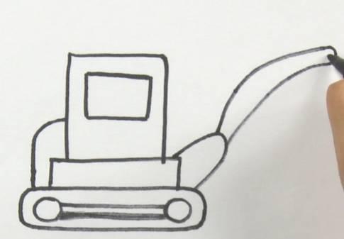 每日一画 游乐场扛把子 挖掘机 简笔画,就是有这样的操作