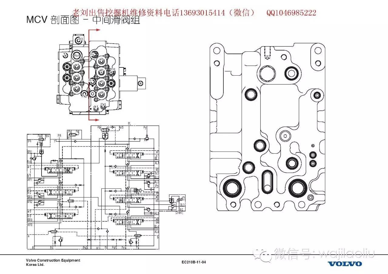 液压主泵,多路阀拆装,电磁阀再生阀工作原理,液压图纸——沃尔沃液压图片
