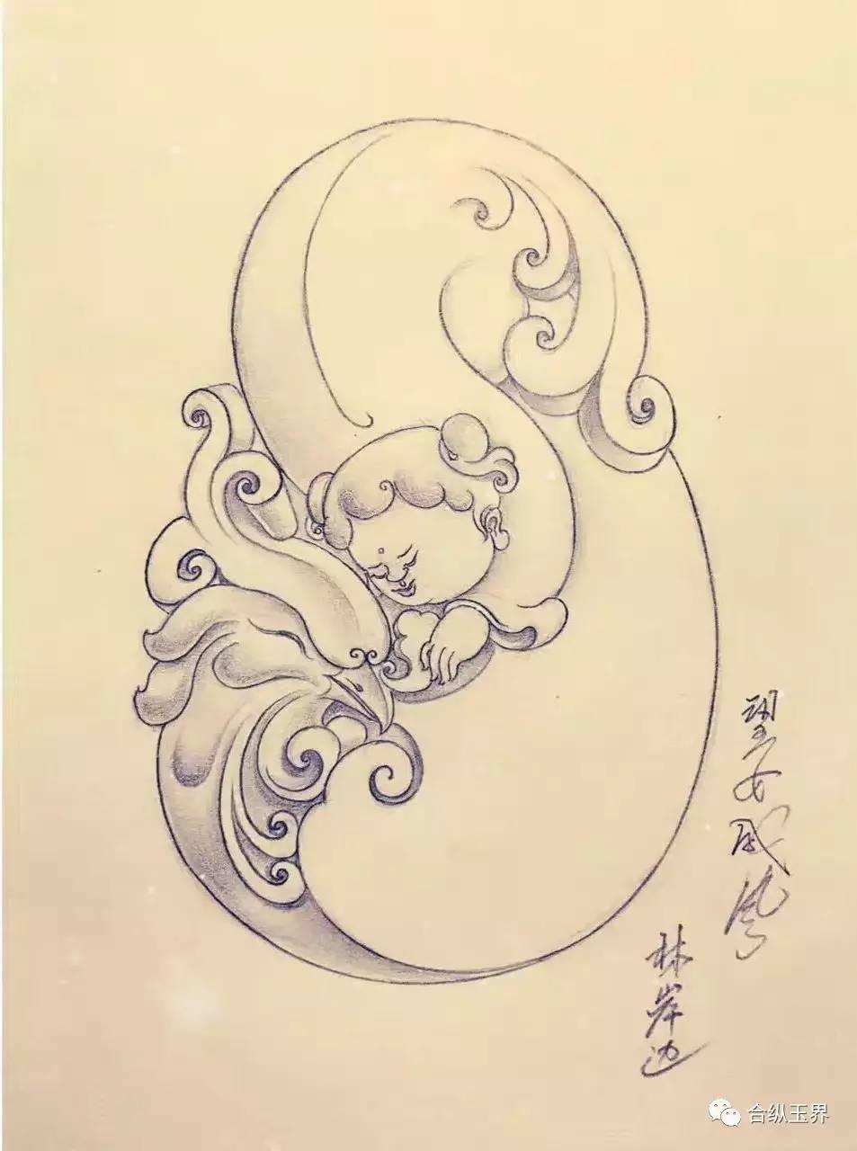 【速看】绝美的玉雕设计画稿!