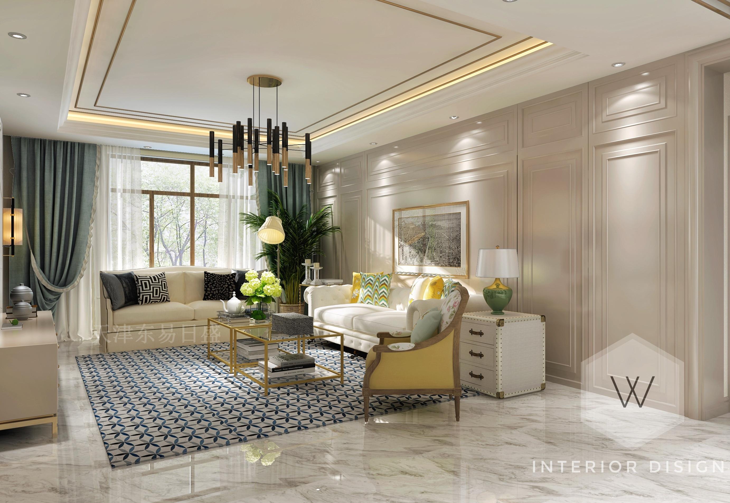 140平轻奢美式风格装修,雅致与高档完美融合!图片