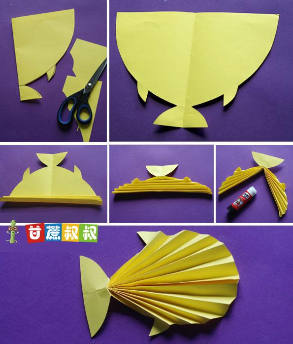 儿童手工diy制作视频:用卡纸制作漂亮的小鱼儿