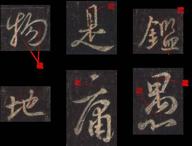 这36个字的结构,已经被王羲之写到了极致!图片