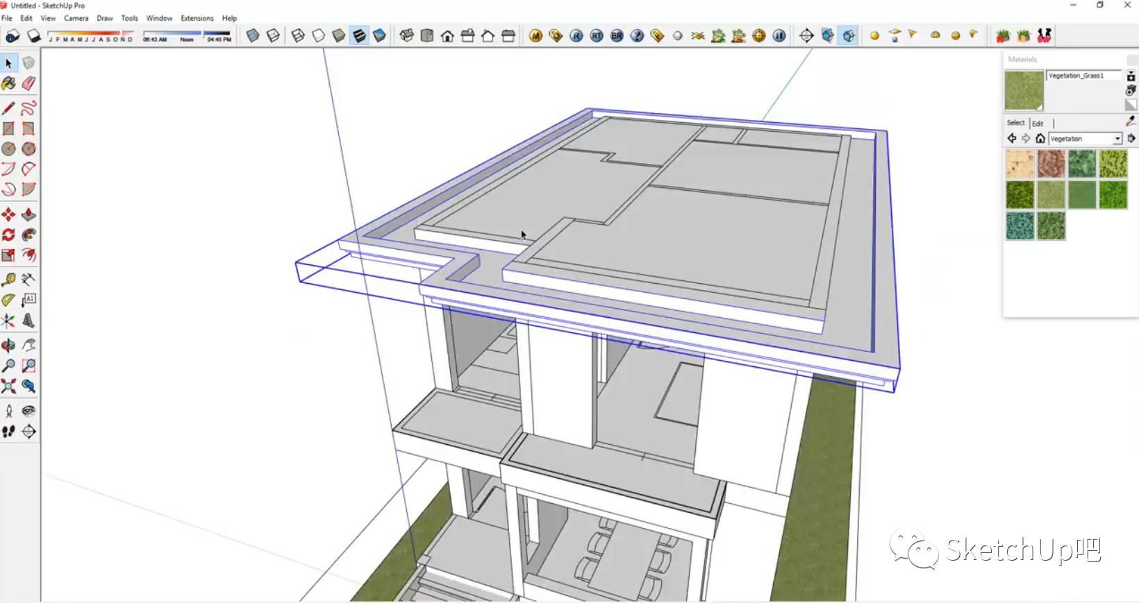 13分钟sketchup房屋完整建模v房屋教程upx教程图片