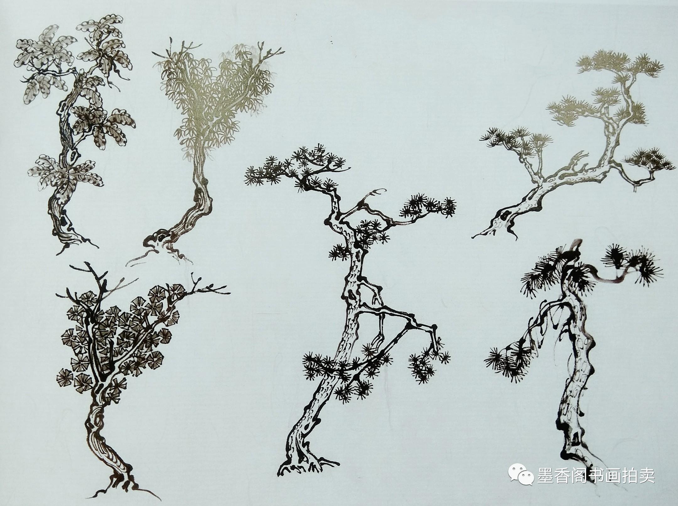 国画入门教学 树的画法