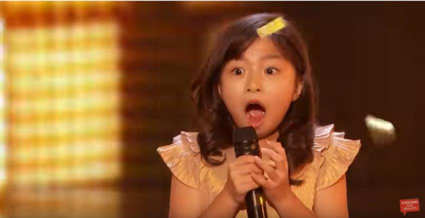 9岁女孩谭芷昀 美国达人秀 创华人史上第一,