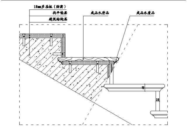 19,楼梯地面木地板饰面示意图