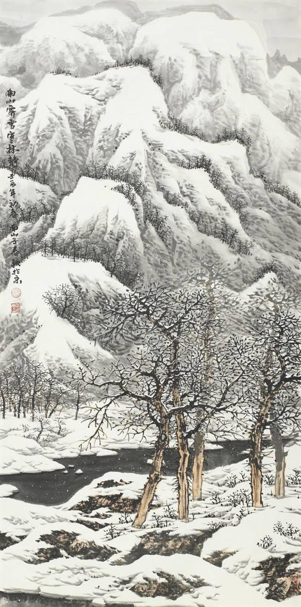 没有传统的文人画基础是画不好的,一幅好的冰雪山水画,在点划披离间是图片