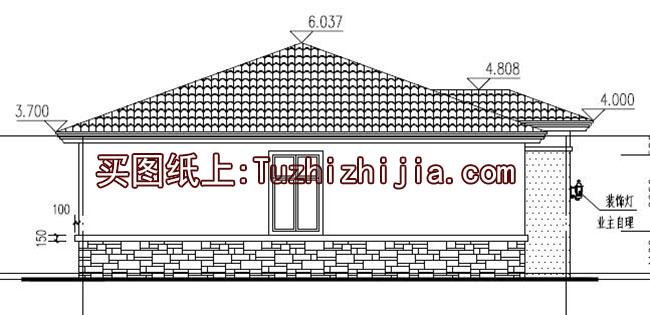 现代一层(带闷顶)住宅别墅设计图,家园超外观!宁宇时尚装修设计图图片