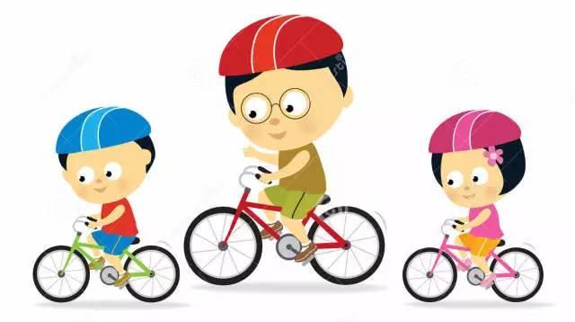 小孩骑自行车简笔画图片