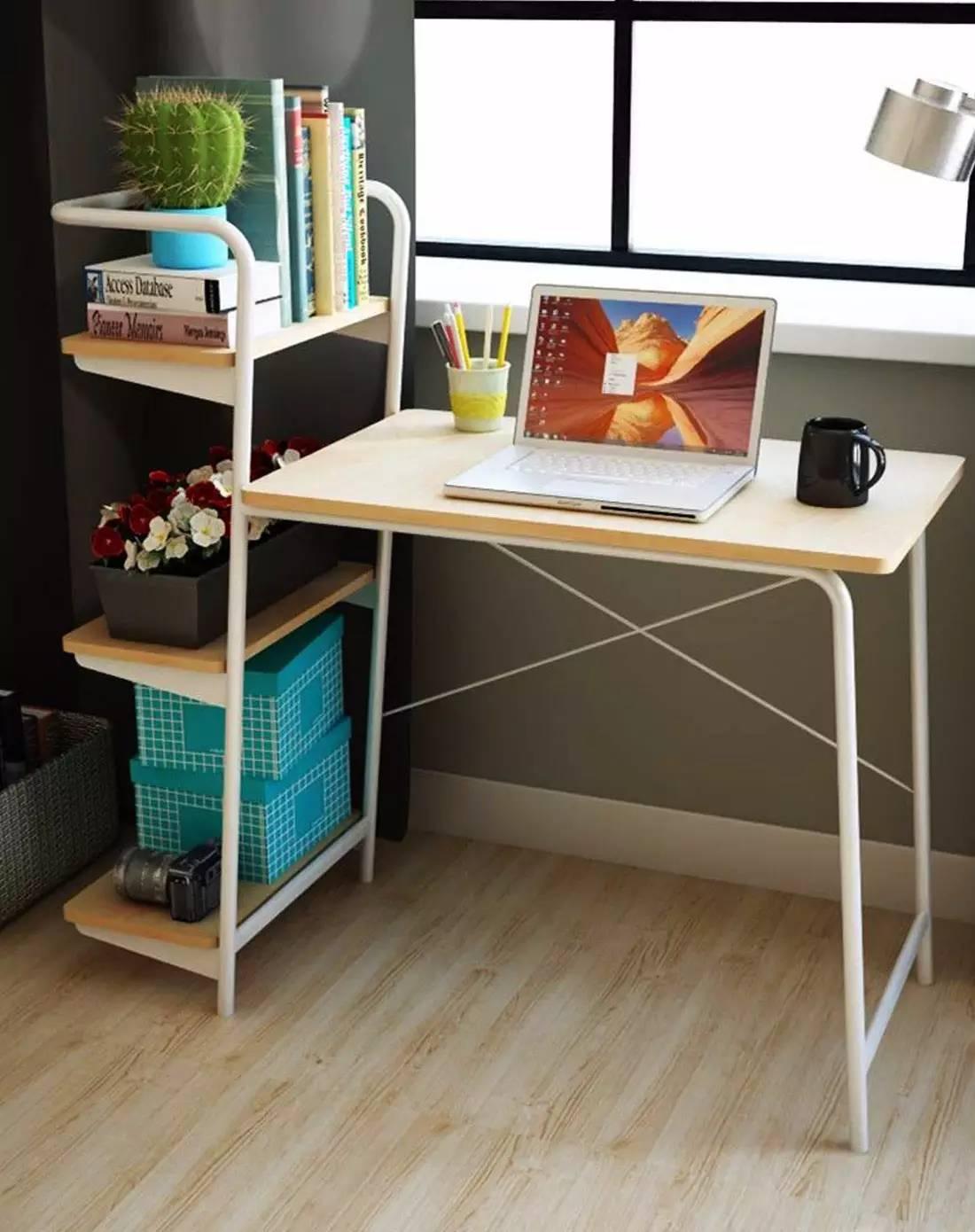 逆天书桌设计,只要几块层板就可以美美的