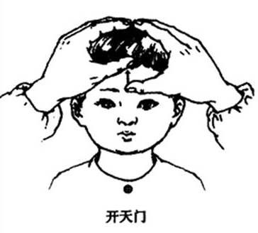 小儿常用推拿手法之头面四大手法(开天门推坎宫运太阳耳后高骨)