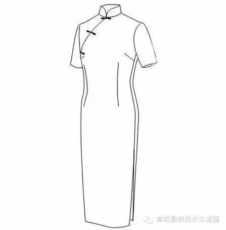 服装结构设计|旗袍的直裁法图片