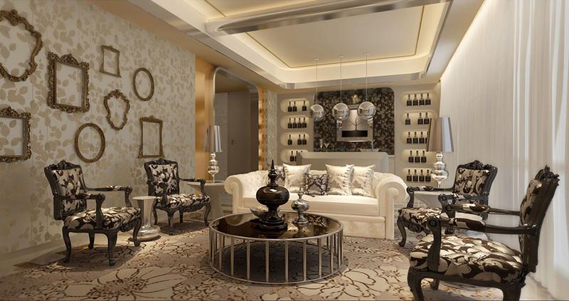 怡丰森林湖130平方3室2厅简欧风格——客厅装修效果图