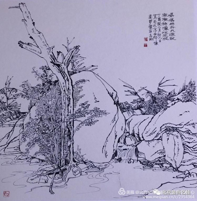 古代田园设计手绘