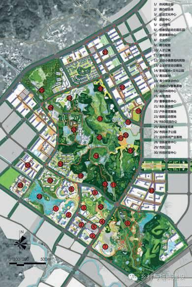龙山运动小镇概念设计平面图