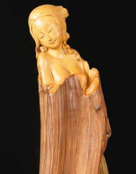 【艺术欣赏】根雕中的美人