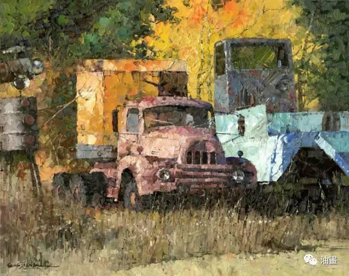 后旅居加拿大,在加拿大近30年致力于风景油画创作.