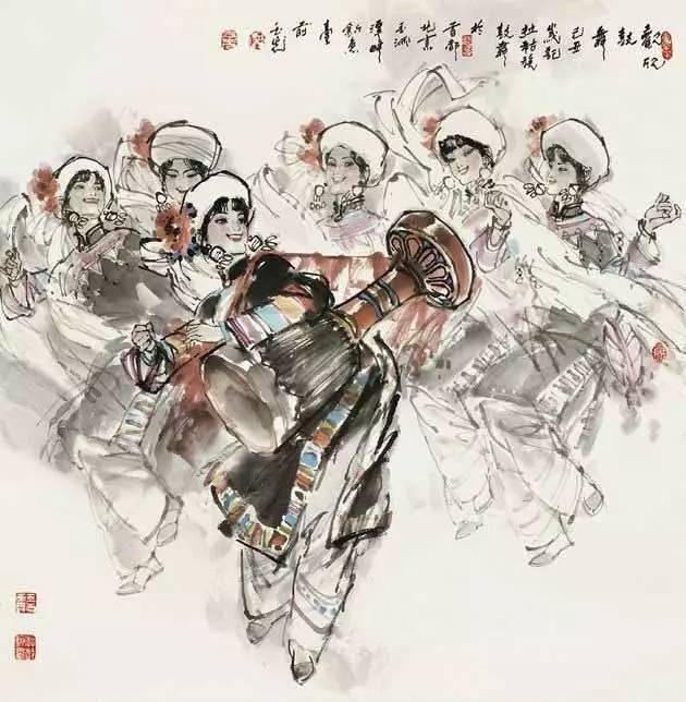 56个民族舞蹈画
