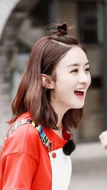 word天~赵丽颖换了新发型后年轻了不止10岁图片