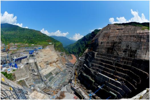 金沙江白鹤滩水电站全面开工建设图片