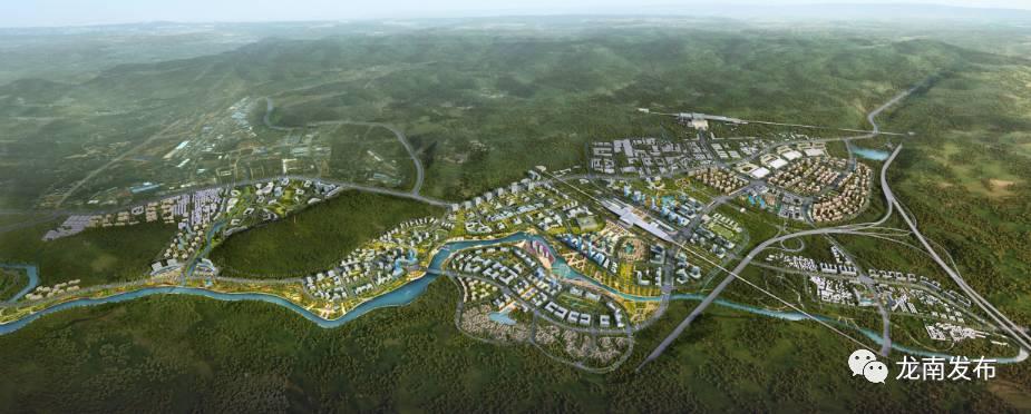 龙南高铁新区规划设计图 高铁新区规划范围 本次规划高铁新区位于