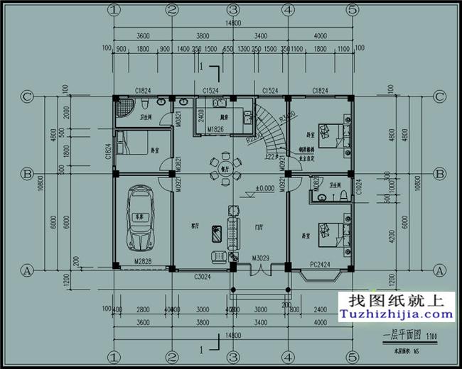 新农村自建二层楼房设计图纸,外观精致引人围观!