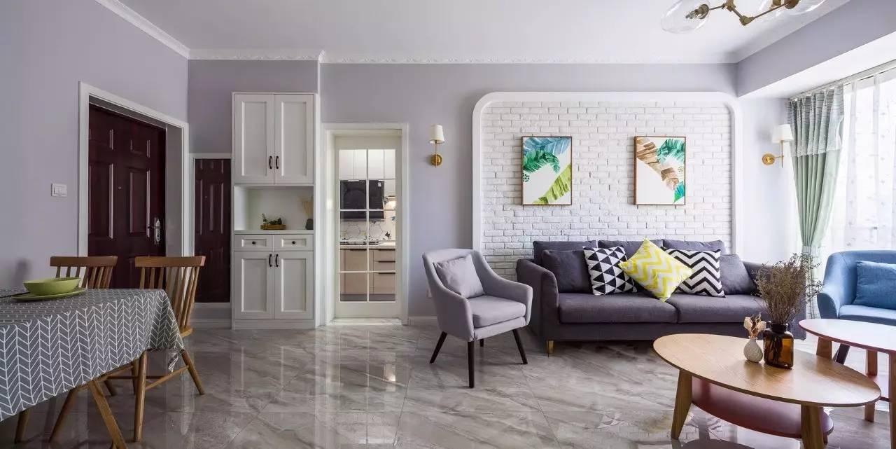 【辰红空间设计】75㎡的北欧风格,电视,沙发背景墙竟美得如此脱俗!图片