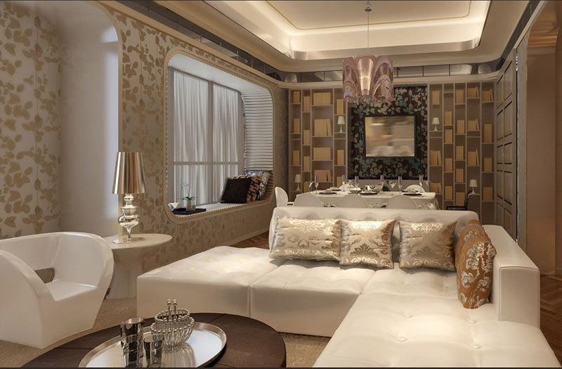 龙发装饰怡丰森林湖130平方简欧风格——餐厅装修效果图