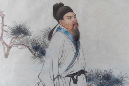 唐朝古装全身铅笔画
