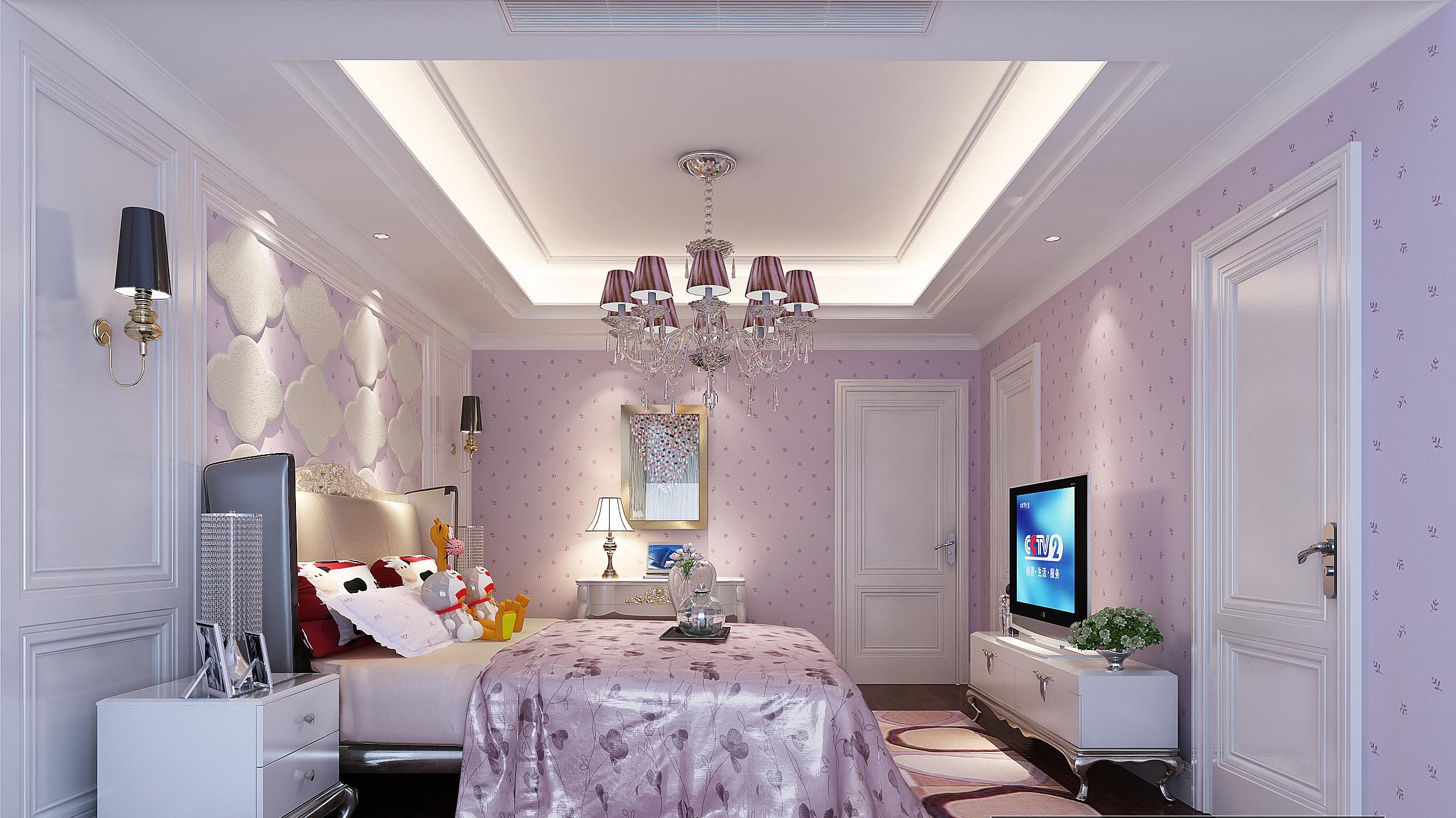 华埔国际设计鸿园183平白色欧式风格装修