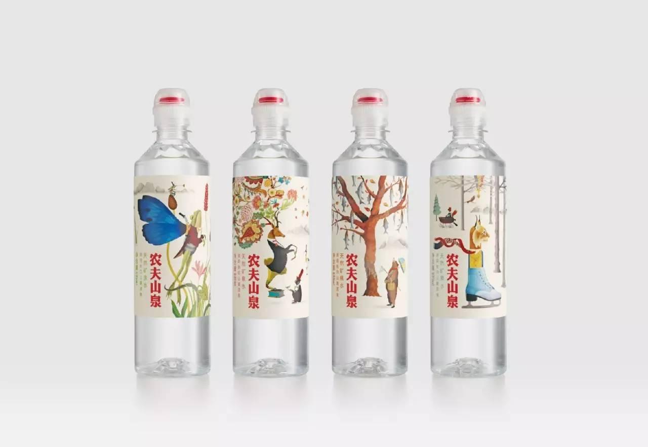 包装纸和罐子上的标签设计有四种明亮的颜色,对应着不同的.