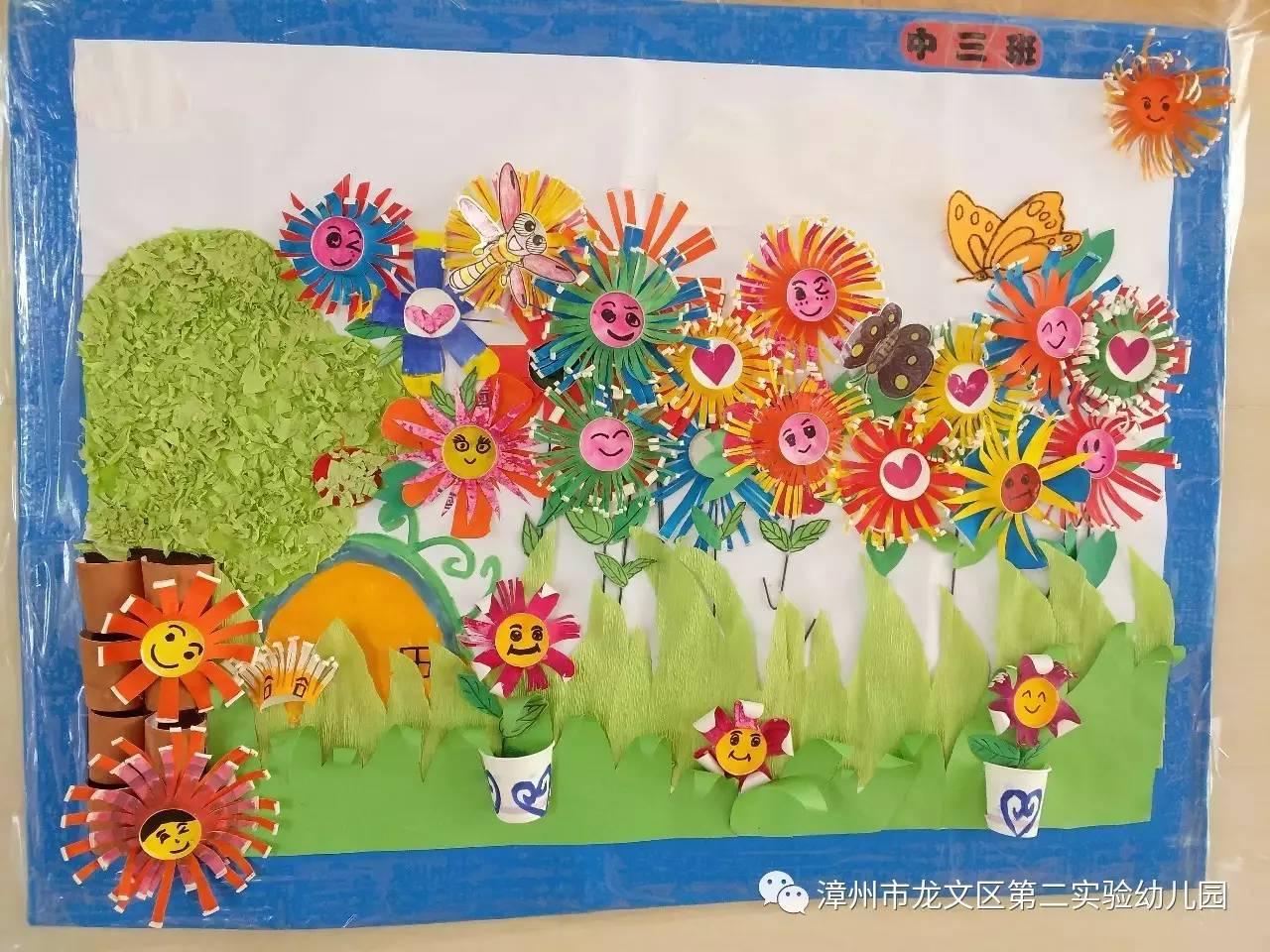 中段《创意纸杯粘贴画》   大段《创意线条画》   让我们一起欣赏孩子