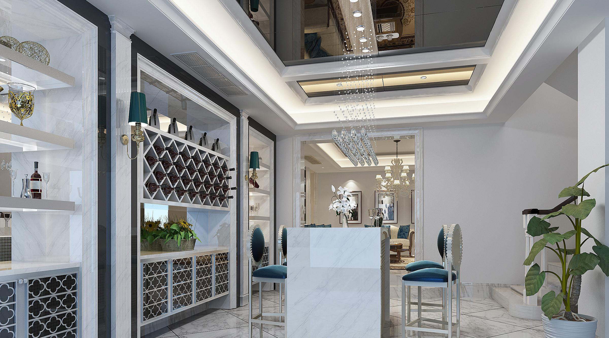 华埔国际设计鸿园183平白色欧式风格装修 郑州别墅装修公司,大户豪宅
