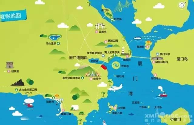 漳州港旅游地图
