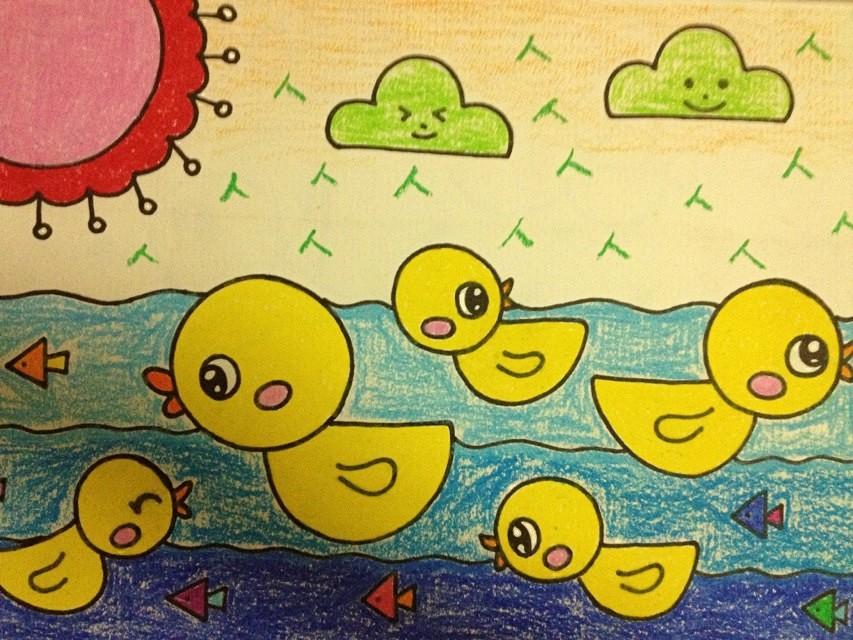 幼儿画画的课程设置与范画 收藏
