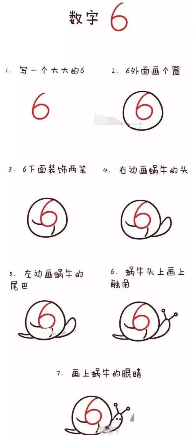 幼儿园数字简笔画 1到10的简笔画流程