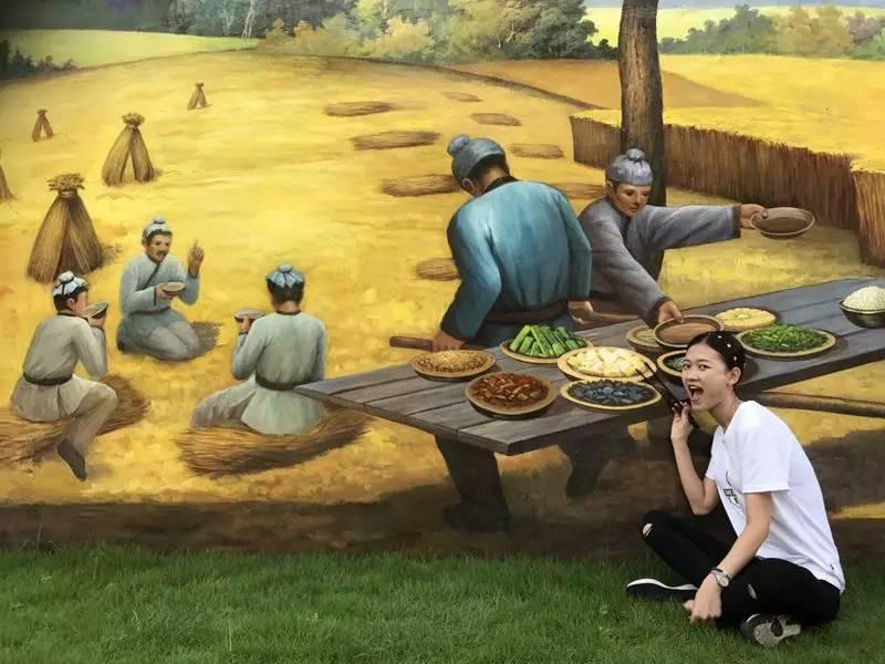 手绘墙绘农耕图片