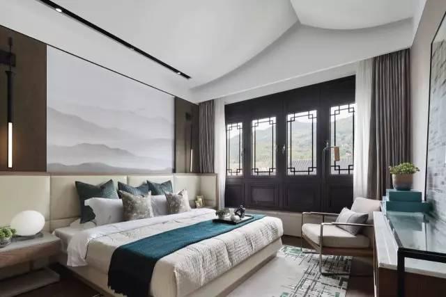 家具设计,空间布局 代表了一种时尚的居住品位 较传统而言 新中式卧室