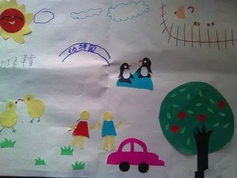 儿童彩纸剪贴画-暑假日记不会写 请看这里,超完美总结