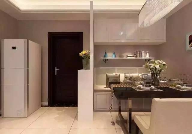 1,此设计非常专业,融合了酒柜,小吧台和鞋柜多功能一体.