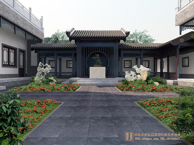 四合院是中国人最为熟悉不过的建筑了,如今的许多别墅也都装修成中式设计四合院的样子,但很难模仿出本质上的底蕴。上图的农村现代四合院设计图中采用了十分现代化的设计,在墙面上布置出几何造型的置物处,完美地将古典与现代相互融合。 关注东方晨光,了解更多四合院知识! 官网:www.