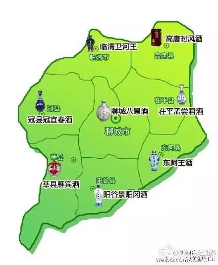 山东省白酒地图