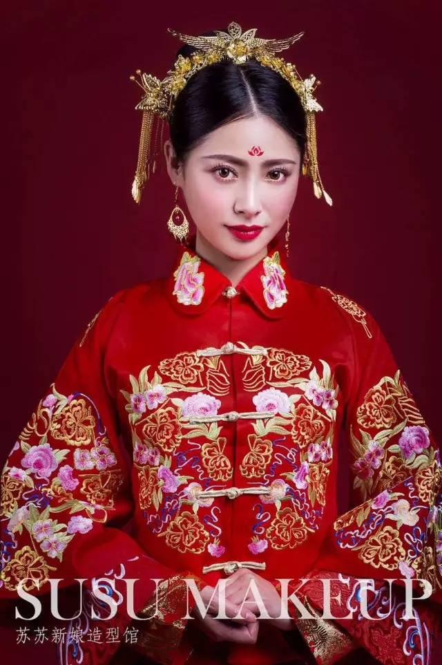 2017最新中式新娘造型,惊艳中国风