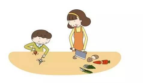 得让孩子干一点家务活.有的妈妈还认为,做家务是大人的事情,孩子